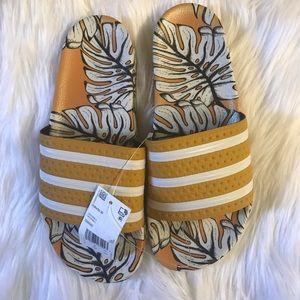 Adidas Adilette Slides Yellow/Black Size 9